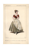 French Soprano Opera Singer Mlle. Leocadie Lemercier As Petronille in Le Sourd Ou L'Auberge Pleine Giclee Print by Alexandre Lacauchie