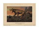 Machaidorus Neogaeus, Smilodon Neogaeus, Saber-toothed Cats That Lived Until the Pleistocene Giclee Print by F. John