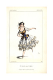 Mlle. Caroline Lassiat in the Role of Colombine at the Theatre De L'Opera Giclee Print by Alexandre Lacauchie