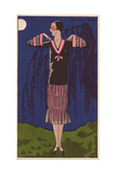 Afternoon Dress in Taffeta And Chiffon Decorated with Pink Taffeta From Art, Gout, Beaute, 1926 Giclee Print