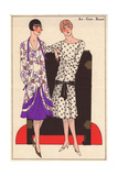 Dresses in Printed Chiffon And Polka-dot Chiffon From Art, Gout, Beaute, 1926 Giclee Print