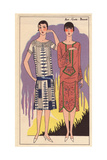 Afternoon Dresses in Crepe De Chine And Embroidered Crepe Georgine From Art, Gout, Beaute, 1926 Giclee Print