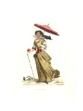 Woman in Summer Clothes, France, 17th Century, From a Print by Jean De Saint-Jean Giclee Print by Edmond Lechevallier-Chevignard