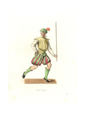 French Lackey, 16th Century Giclee Print by Edmond Lechevallier-Chevignard