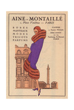 Woman in a Purple Coat with Luxurious Fur Trim From Art, Gout, Beaute, 1930 Giclee Print