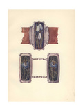 British Art Nouveau Buckle in Wrought Silver And Enamel by Nelson And Edith Dawson Giclee Print