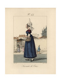 Servant Girl in Caen. She Wears a Tall Bavolet Bonnet Giclee Print