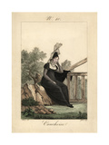 Woman From Yvetot in Mourning Wear. the Bonnet Is Not Embroidered Giclee Print