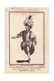 Signor Vestris Senior As the Prince in the Grand Pantomime Ballet Ninette a La Cour Giclee Print by James Roberts