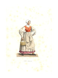 Peasant Woman of France, 16th Century Giclee Print by Edmond Lechevallier-Chevignard