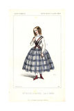 Opera Singer Mlle. Miolan As Dora in Le Nabab at the Opera Comique Giclee Print by Alexandre Lacauchie