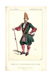 Baritone Opera Singer Leonard Hermann-Leon As the Drum-major Gritzenko in L'Etoile Du Nord Giclee Print by Alexandre Lacauchie