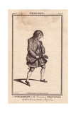 Robert Baddely As Trinculo in the Tempest Giclee Print by J. Parkinson