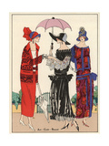 Women in Fashionable Day Dresses And Suits From Art, Gout, Beaute 1923 Giclee Print
