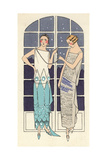 Two-tone Evening Dress in Crepe Georgine And White Crepe Dress From Art, Gout, Beaute 1923 Giclee Print