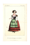 Mme. Colson As Michelma in La Moissonneuse at the Theatre Lyrique Giclee Print by Alexandre Lacauchie