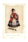 Mlle. Decroix As Ekimonna in L'Etoile Du Nord at the Opera Comique Giclee Print by Alexandre Lacauchie