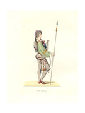 Flemish Military Attendant, 16th Century Giclee Print by Edmond Lechevallier-Chevignard