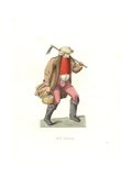 French Labourer, 16th Century, From a 1567 Print Giclee Print by Edmond Lechevallier-Chevignard