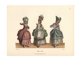 Women's Fashions From the Late 18th Century From Prints of the Era Giclee Print by Jakob Heinrich Hefner-Alteneck