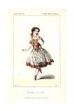 Mlle. Fanny Cerrito in Mazilier's Orfa at the Academie Imperiale De Musique Giclee Print by Alexandre Lacauchie