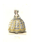 Woman in Ball Gown, France, 18th Century Giclee Print by Edmond Lechevallier-Chevignard