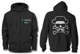 Zip Hoodie: Breaking Bad - Heisenberg and Crossbones Hættetrøje med lynlås