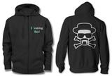 Zip Hoodie: Breaking Bad - Heisenberg and Crossbones - Fermuarlı Kapüşonlu Sweatshirt
