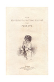 Title Page with Steel Engraving by Charles Wands of a Young Girl with a Parrot Giclee Print