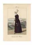 Tradeswoman of Rouen Wearing a Bonnet Called a Bavolet Giclee Print