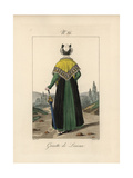 Tradeswoman of Lisieux. She Wears a Serre-tete Fixed with a Double Ribbon Giclee Print