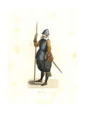 Pikeman, French Flanders, 17th Century Giclee Print by Edmond Lechevallier-Chevignard