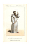 Bussine in Monk's Robes As Fra Borromee in Marco Spada at the Opera Comique Giclee Print by Alexandre Lacauchie