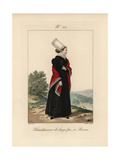 Laundry Woman of Fine Linen at Rouen Giclee Print