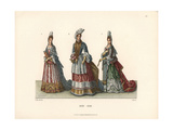 Noblewomen From the Late 17th Century From Prints of the Period Giclee Print by Jakob Heinrich Hefner-Alteneck