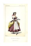 Mlle. Lefebvre in the Title Role of Madelon, a Comic Opera by Francois Bazin, 1852 Giclee Print by Alexandre Lacauchie