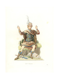 French Gentleman in Ancient Costume, 17th Century Giclee Print by Edmond Lechevallier-Chevignard
