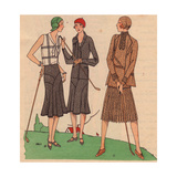 Fashionable Parisian Women Playing Golf From Art, Gout, Beaute, 1930 Giclee Print
