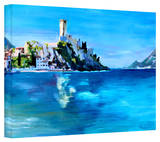 'Malcesine on Garda Lake with Castello' Gallery-Wrapped Canvas Stretched Canvas Print by Markus Bleichner