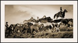 Gathering the Herd Framed Giclee Print by Wendy Caro
