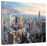 'New York City Skyline in Sunlight' Gallery-Wrapped Canvas Stretched Canvas Print by Markus Bleichner