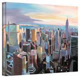 'New York City Skyline in Sunlight' Gallery-Wrapped Canvas Gallery Wrapped Canvas by Markus Bleichner