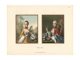 Seasonal Fashions From the Early 18th Century: Fall And Winter Giclee Print by Jakob Heinrich Hefner-Alteneck
