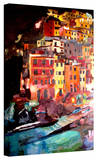 'Magic Cinque Terre Night Riomaggiore' Gallery-Wrapped Canvas Stretched Canvas Print by Markus Bleichner