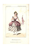 Mlle. Lefevre As Colette at the Theatre Imperial De L'Opera Comique Giclee Print by Alexandre Lacauchie