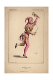 A Fool From La Fonti at the Academie Imperiale De Musique Giclee Print by Alexandre Lacauchie