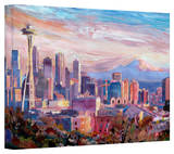 'Seattle Skyline with Space Needle' Gallery-Wrapped Canvas Stretched Canvas Print by Markus Bleichner