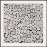River Pebbles Framed Giclee Print by Isabel Lawrence