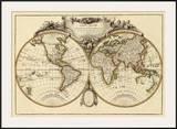 Mappemonde, c.1782 Print by Jean Janvier