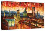 'Munich Skyuline with Alps Panorama' Gallery-Wrapped Canvas Stretched Canvas Print by Markus Bleichner